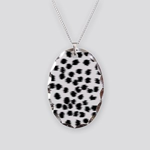 Dalmatian Pattern. Necklace Oval Charm