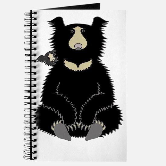 Sloth Bear with Cub (dark) Journal