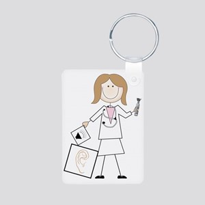 Female Audiologist Aluminum Photo Keychain