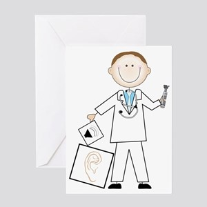 Male Audiologist Greeting Card