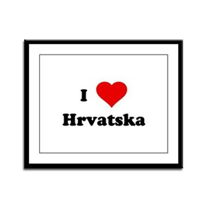 I Love Hrvatska Framed Panel Print