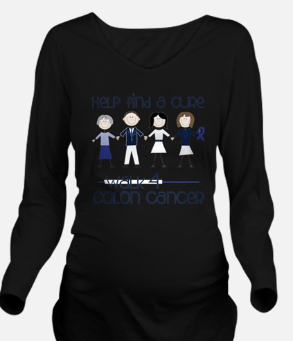 Colon Cancer Long Sleeve Maternity T-Shirt
