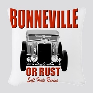 bonneville salt flats racing Woven Throw Pillow