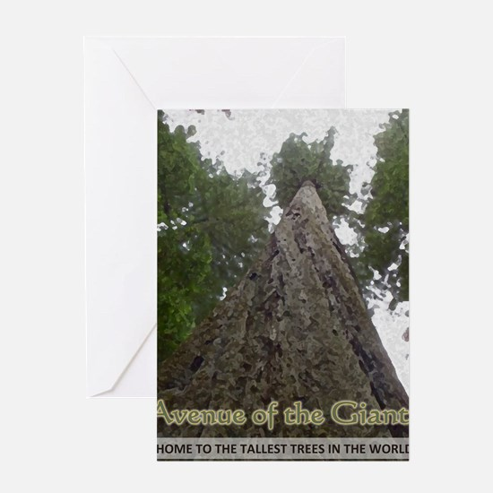Founders Tree Tall - Avenue of the G Greeting Card