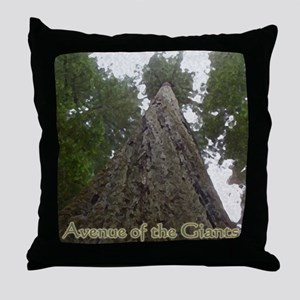 Founders Tree Tall - Avenue of the Gi Throw Pillow