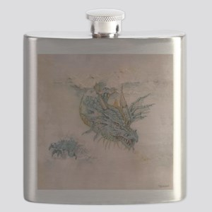 Blue Dragon In The Mist Flask