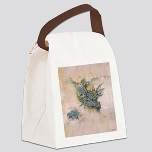 Blue Dragon In The Mist Canvas Lunch Bag