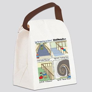 An Age Perspective on Stairs Canvas Lunch Bag