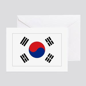 South Korean flag Greeting Cards (Pk of 10)