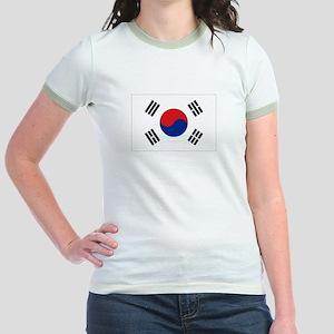 South Korean flag Jr. Ringer T-Shirt