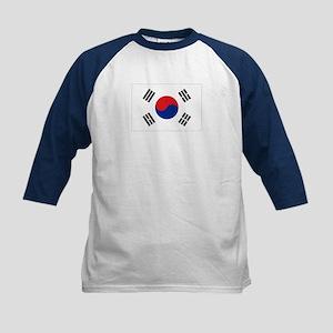 South Korean flag Kids Baseball Jersey