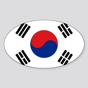 South Korean flag Oval Sticker