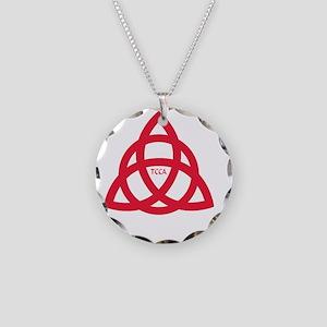 Jewelry. TCCA Logo white Necklace Circle Charm 8dddc16b55