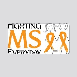 Fighting MS Everyday Aluminum License Plate