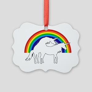 Humping Unicorns Picture Ornament