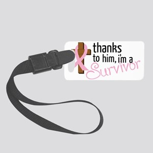Im A Survivor Small Luggage Tag
