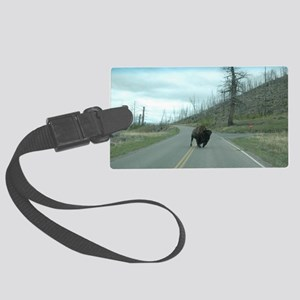 Yellowstone Buffalo Make My Day Large Luggage Tag