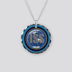 ISS Seal (black) Necklace Circle Charm