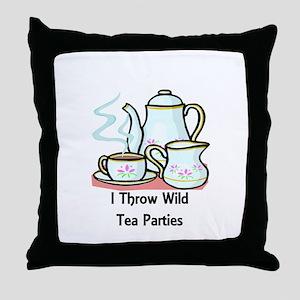 Wild Tea Parties Throw Pillow