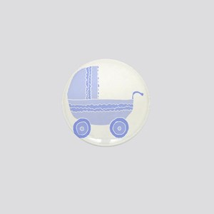 Blue Stroller. Mini Button