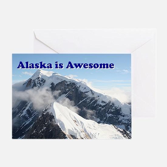 Alaska is awesome: Alaska Range, USA Greeting Card