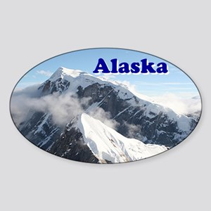 Alaska: Alaska Range, USA Sticker (Oval)