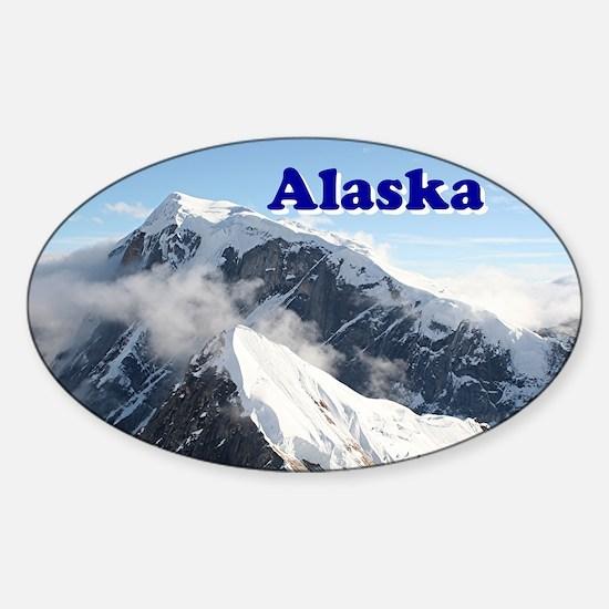 Alaska: Alaska Range, USA Sticker (Oval)