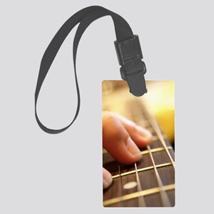 Guitar Playing iPad Cases Large Luggage Tag
