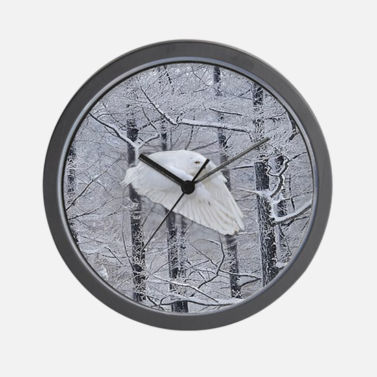 Snowy Owl, Praying Wings Wall Clock