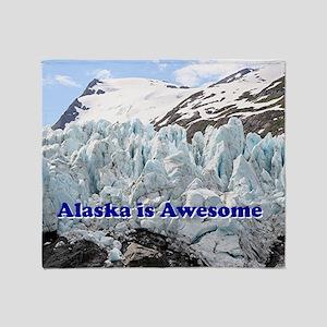 Alaska is Awesome: Portage Glacier,  Throw Blanket