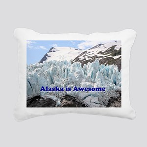 Alaska is Awesome: Porta Rectangular Canvas Pillow