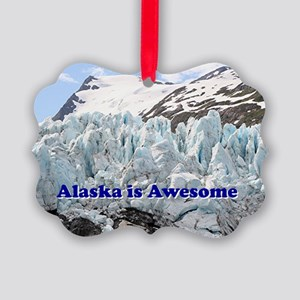 Alaska is Awesome: Portage Glacie Picture Ornament