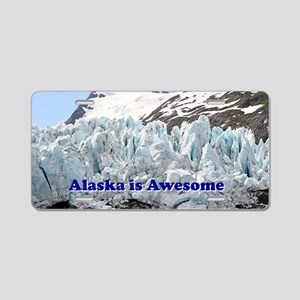 Alaska is Awesome: Portage  Aluminum License Plate