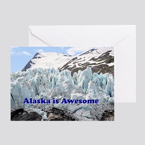 Alaska is Awesome: Portage Glacier,  Greeting Card