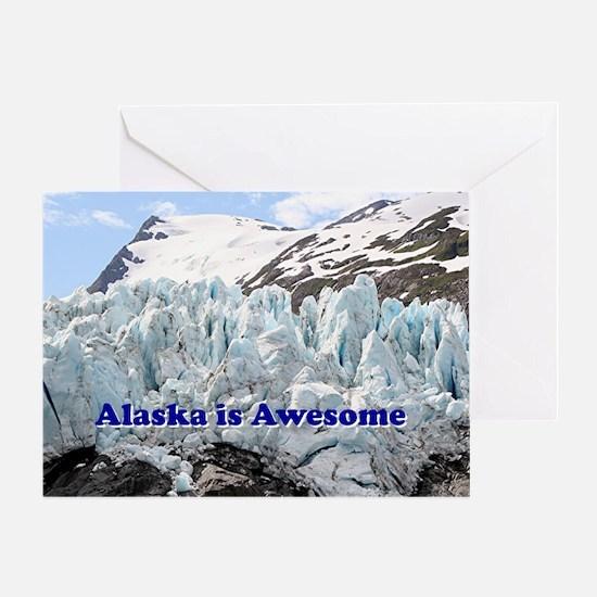 Alaska is Awesome: Portage Glacier,  Greeting Card