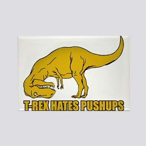 T-rex Hares Pushups Rectangle Magnet