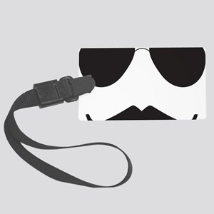 Aviator Mustache Large Luggage Tag