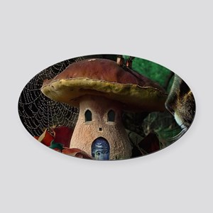 Boletus incredulis Oval Car Magnet