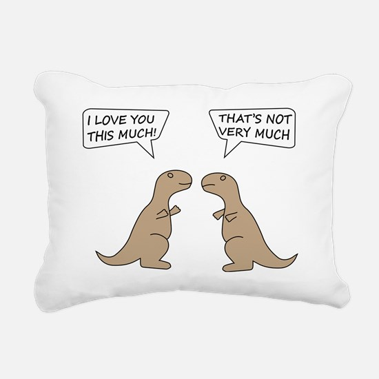 I Love You This Much Rectangular Canvas Pillow