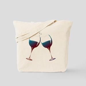 Clinking Wine Glasses Tote Bag