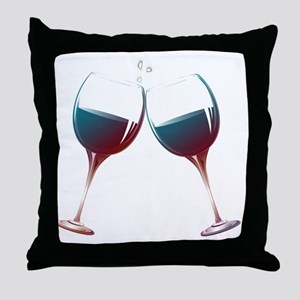 Clinking Wine Glasses Throw Pillow