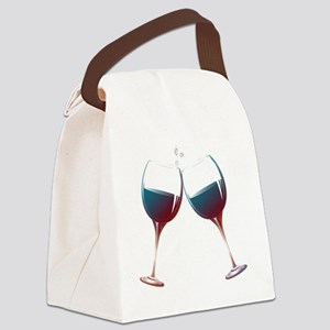 Clinking Wine Glasses Canvas Lunch Bag