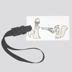 Funny Squirrels Large Luggage Tag