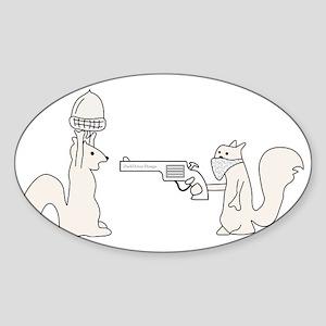 Funny Squirrels Sticker (Oval)