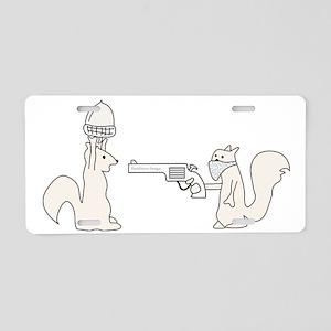 Funny Squirrels Aluminum License Plate