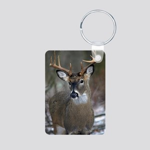 10 point buck Aluminum Photo Keychain