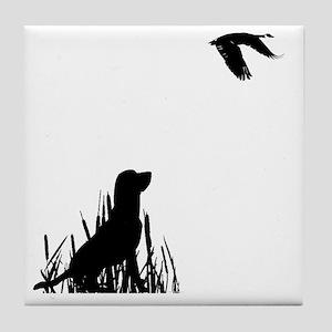 Goose Hunting Tile Coaster