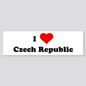 I Love Czech Republic Bumper Sticker
