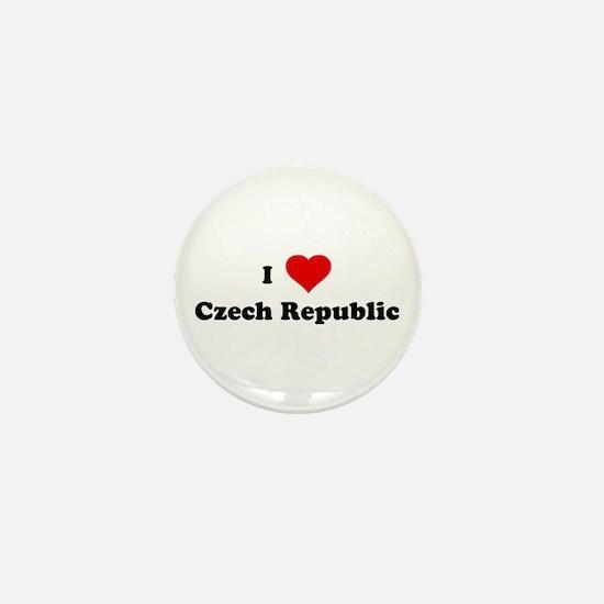 I Love Czech Republic Mini Button