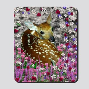 Bambina the Fawn in Flowers II Mousepad
